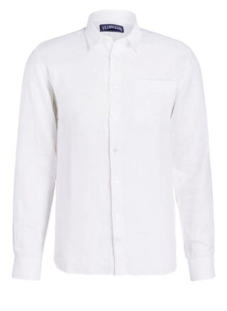 Vilebrequin Leinenhemd Herren, Weiß