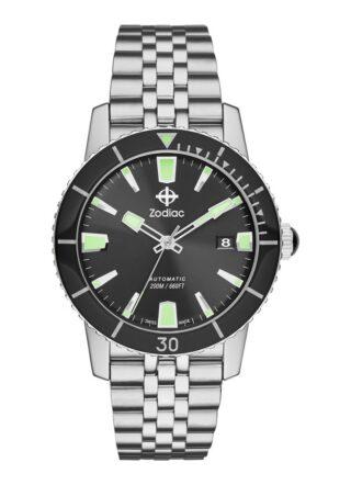 Zodiac Super Seawolf 53 Compression ZO9250 Armbanduhr Herren, Silber