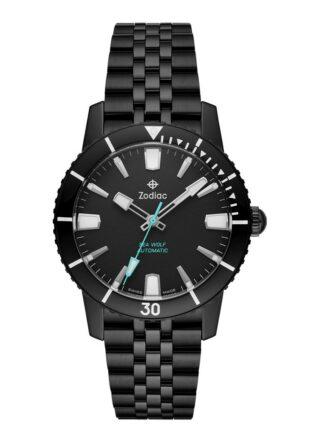 Zodiac Super Seawolf ZO9276 Armbanduhr Herren, Schwarz