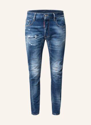 Dsquared2 Tidy Biker Tapered Jeans Herren, Blau