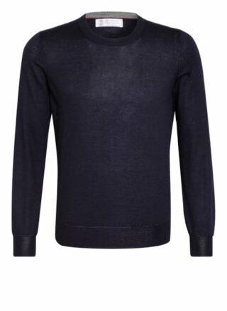 BRUNELLO CUCINELLI Cashmere-Pullover Herren, Blau