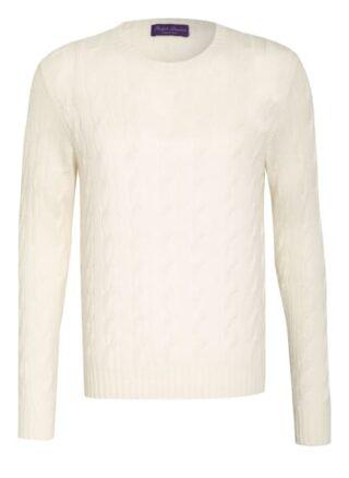 RALPH LAUREN PURPLE LABEL Cashmere-Pullover Herren, Weiß
