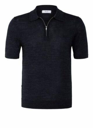 REISS Maxwell Strick-Poloshirt Herren, Blau