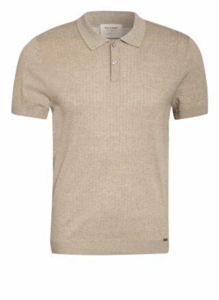 Olymp Level Five Strick-Poloshirt Herren, Braun