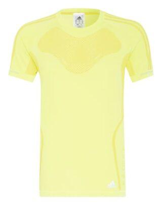Adidas Primeknit T-Shirt Herren, Gelb