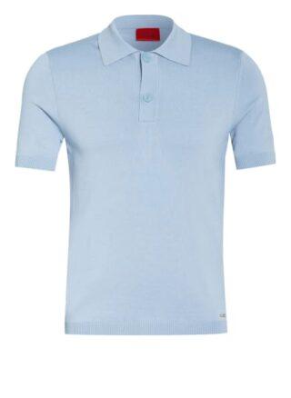 HUGO San Sebastiano Strick-Poloshirt Herren, Blau