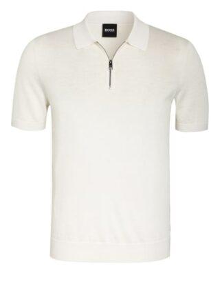 Boss Palieri Strick-Poloshirt Herren, Weiß