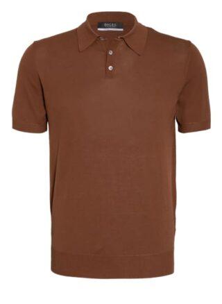 Digel Kolmann Strick-Poloshirt Herren, Braun