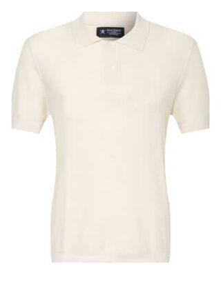 Hackett London Strick-Poloshirt Herren, Weiß