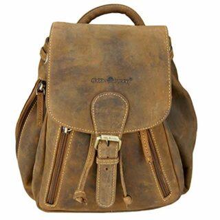 Greenburry Vintage City Rucksack Leder, Braun