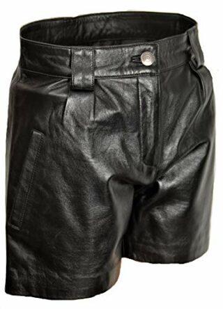 Be Noble Leder Shorts Damen Hot-Pants, Schwarz