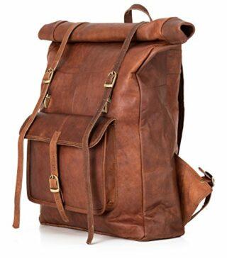 Berliner Bags Leeds XL Vintage Rucksack, Braun