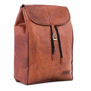 Berliner Bags Malaga Damen Backpack mit Laptopfach, Braun