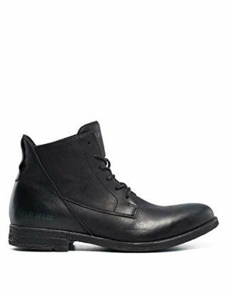 Replay Gunhill Leder Boots, Schwarz
