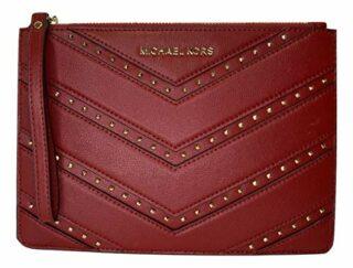 Michael Kors Ellis XL Zip Clutch Wallet, Rot