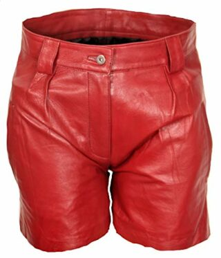Verona Leder Shorts Damen Hot-Pants, Rot