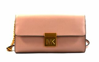 Michael Kors Mindy Leather Convertible Clutch, Rosa