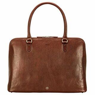 Maxwell-Scott Fiorella Leder Handtasche, Braun