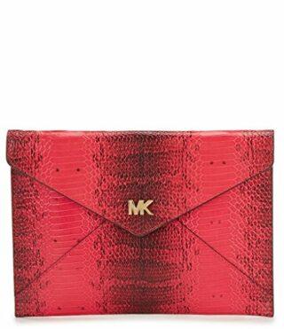 Michael Kors Barbara Medium Soft Envelope Clutch, Pink