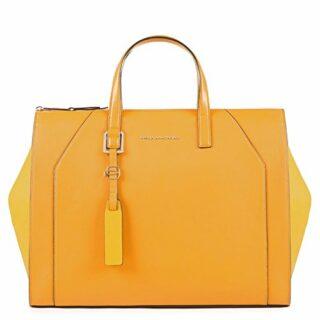 Piquadro Muse Damen Handtasche, Gelb