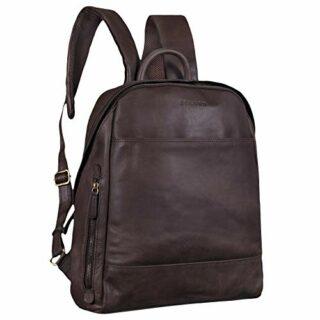 STILORD Marco Vintage Daypack Business, Braun