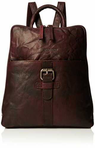 Spike & Sparrow Damen Rucksack Handtasche, Braun