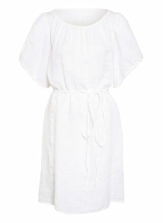 120%lino Strandkleid Damen, Weiß