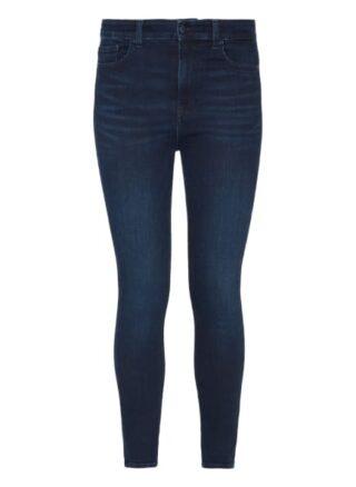 7 For All Mankind Aubrey Skinny Fit Flared Leg Jeans Damen, Blau