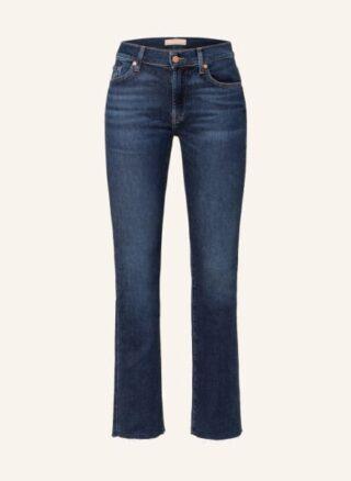 7 For All Mankind Flared Leg Jeans Damen, Blau