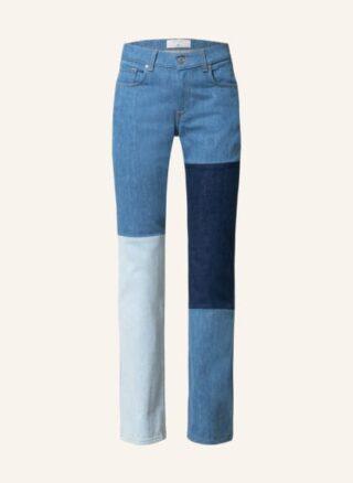 7 For All Mankind Indigo Shades Flared Leg Jeans Damen, Blau