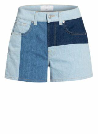 7 For All Mankind Indigo Shades Jeans-Shorts Damen, Blau