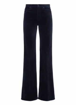 7 For All Mankind Modern Dojo Flared Fit Chino-Jeans Damen, Blau