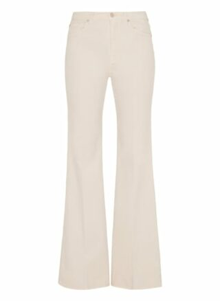 7 For All Mankind Modern Dojo Flared Fit Chino-Jeans Damen, Weiß