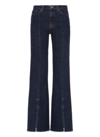 7 For All Mankind Modern Dojo Flared Fit Flared Leg Jeans Damen, Blau