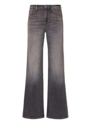 7 For All Mankind Modern Dojo Flared Fit Flared Leg Jeans Damen, Grau