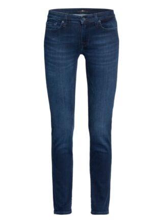 7 For All Mankind Pyper Crop 7/8 Skinny Jeans Damen, Blau