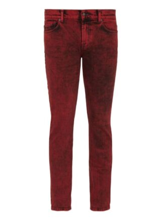7 For All Mankind Ronnie Regular Fit Jeans Herren, Rot