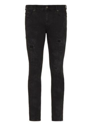 7 For All Mankind Ronnie Regular Fit Jeans Herren, Schwarz