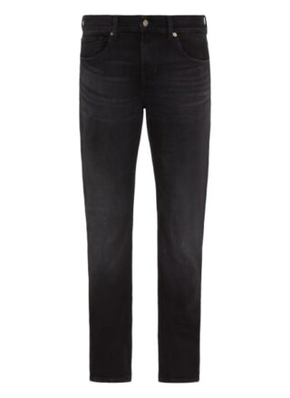7 For All Mankind Slimmy Slim Fit Jeans Herren, Schwarz