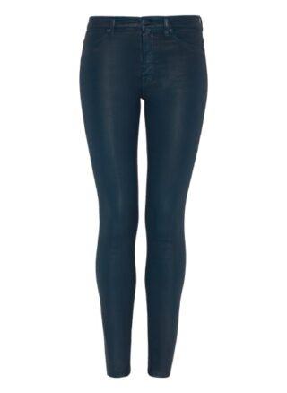 7 For All Mankind The Hw Skinny Skinny Fit Chino-Jeans Damen, Blau