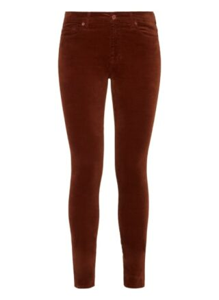 7 For All Mankind The Hw Skinny Skinny Fit Chino-Jeans Damen, Braun