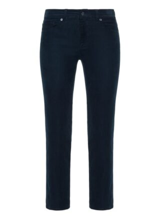 7 For All Mankind The Straight Crop Straight Fit Chino-Jeans Damen, Blau