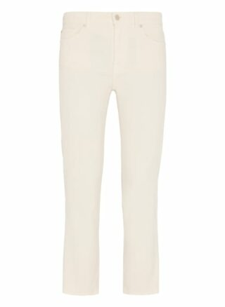 7 For All Mankind The Straight Crop Straight Fit Chino-Jeans Damen, Weiß