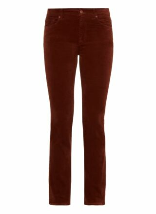 7 For All Mankind The Straight Straight Fit Chino-Jeans Damen, Braun
