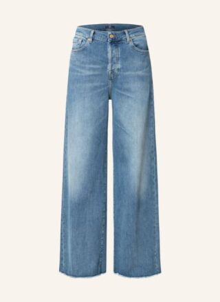 7 For All Mankind Zoey Flared Leg Jeans Damen, Blau