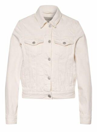 ALL SAINTS Hay Jeansjacke Damen, Weiß