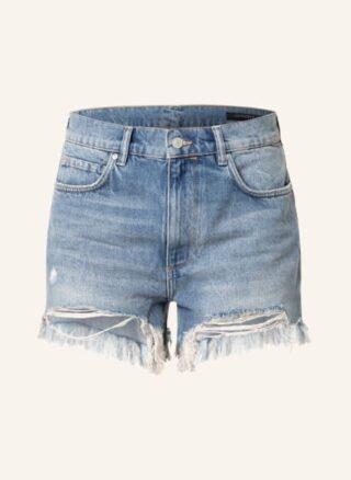 ALL SAINTS Remi Jeans-Shorts Damen, Blau