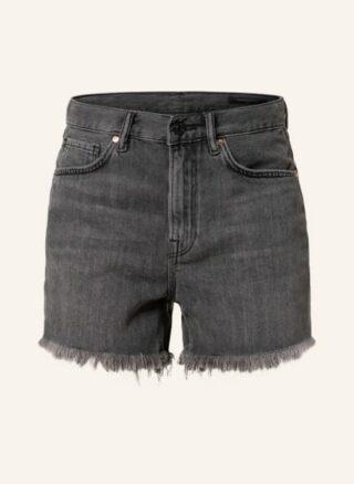 ALL SAINTS Yanni Jeans-Shorts Damen, Schwarz
