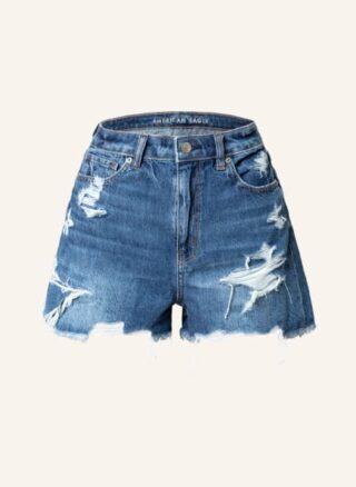 AMERICAN EAGLE Jeans-Shorts Damen, Blau