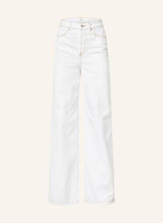 BA&SH Csoul Flared Leg Jeans Damen, Weiß